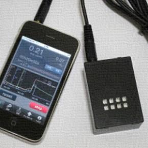 [み]iPhone・iPad・iPod touchに接続して使う放射線測定センサー「iGAMMA」
