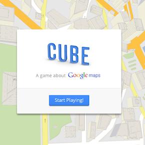 Googleマップで玉転がしをする「Cube」で遊んでみた