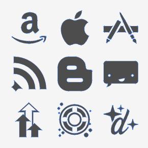 [み]商用利用無料のSNSのベクターアイコン「JustVector Social Icons」