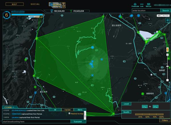 見にくいIngress Intel Map